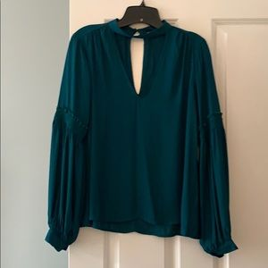 Lush size S green blouse
